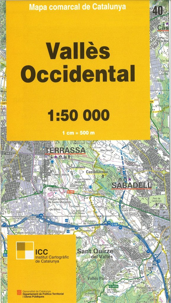 Mapa comarcal de catalunya 1 vall s occidental 40 tienda electr nica - Casas en el valles occidental ...