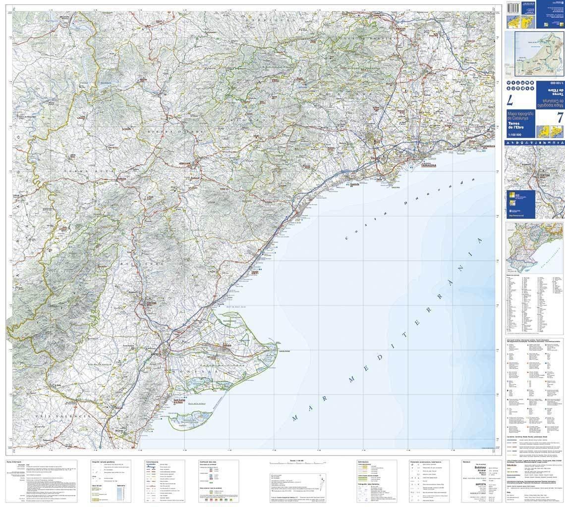 Mapa Terres De L Ebre.Mapa Topografic De Catalunya 1 100 000 Terres De L Ebre 7