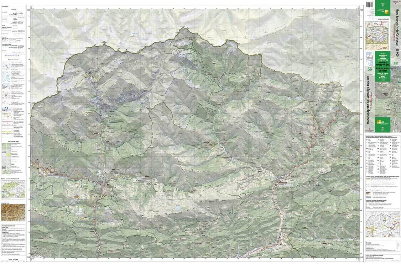 Mapa Topografic De Catalunya.Mapa Topografic De Catalunya 1 25 000 Vall De Nuria Ulldeter 56
