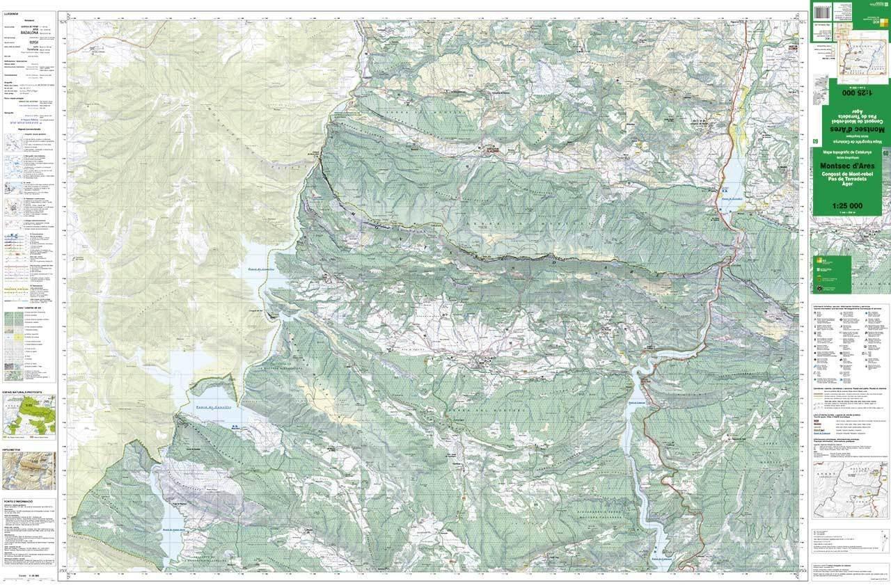 Mapa Topografic De Catalunya.Mapa Topografic De Catalunya 1 25 000 Montsec D Ares 60