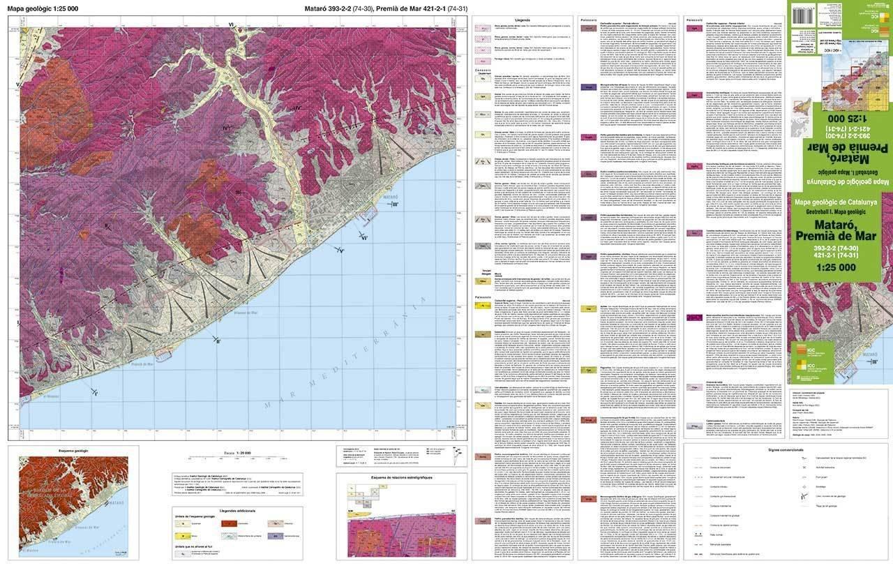 Mapa Geologic 1 25 000 Geotreball I Mataro Premia De Mar