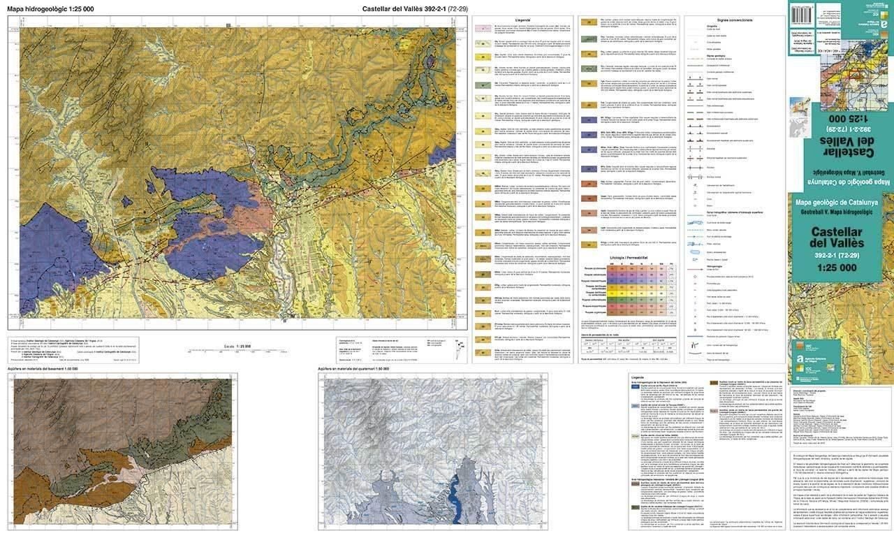 Castellar Del Valles Mapa.Mapa Hidrogeologic 1 25 000 Geotreball V Castellar Del Valles