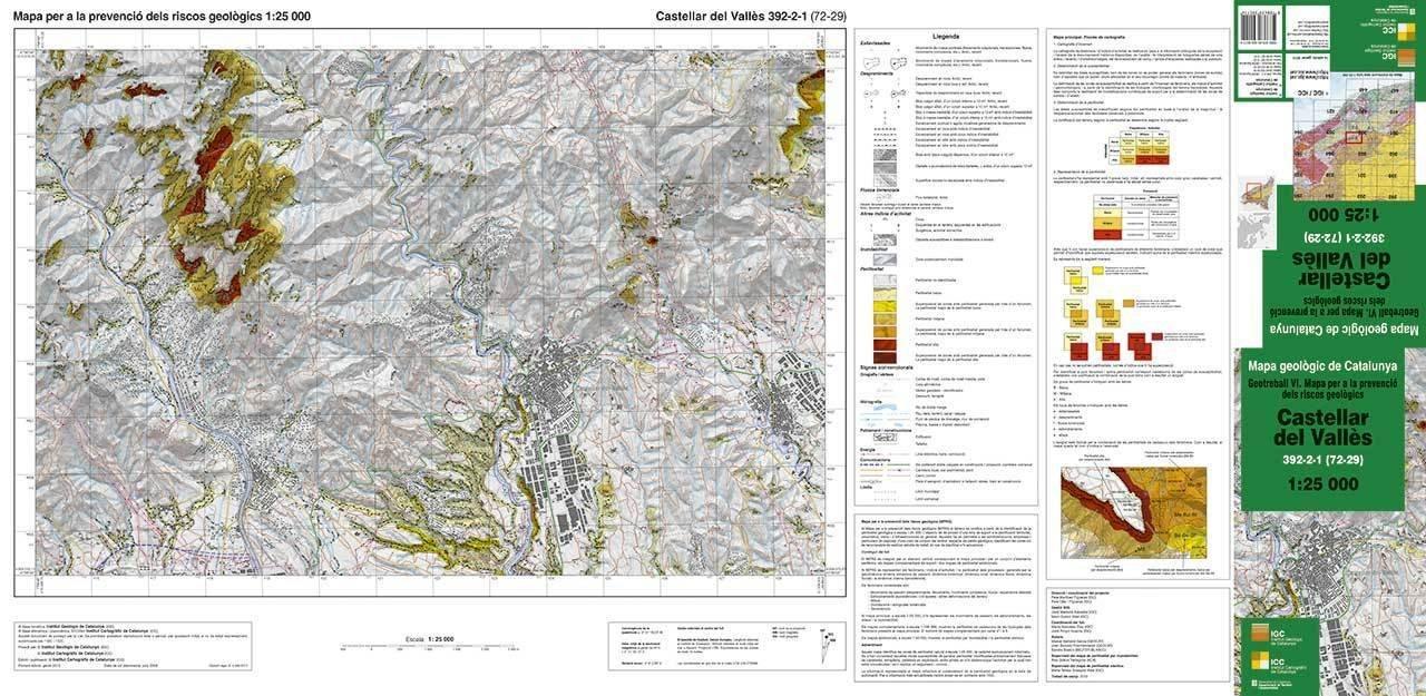 Castellar Del Valles Mapa.Mapa Per A La Prevencio Dels Riscos Geologics 1 25 000 Geotreball Vi Castellar Del Valles