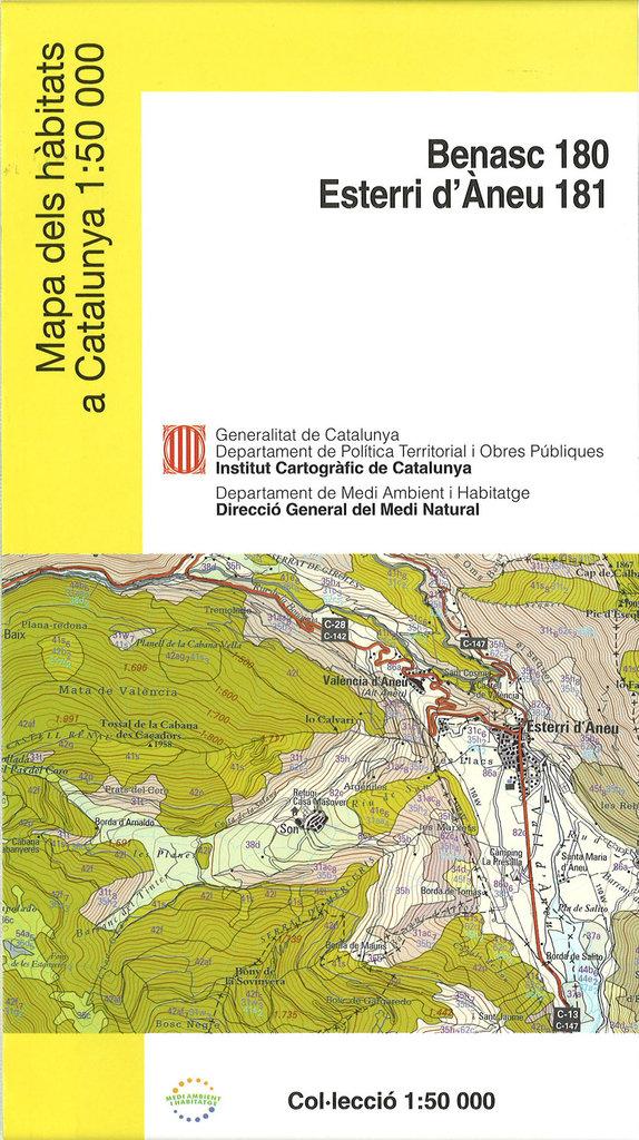 Mapa Dels Habitats A Catalunya 1 50 000 Benasc Esterri D Aneu E