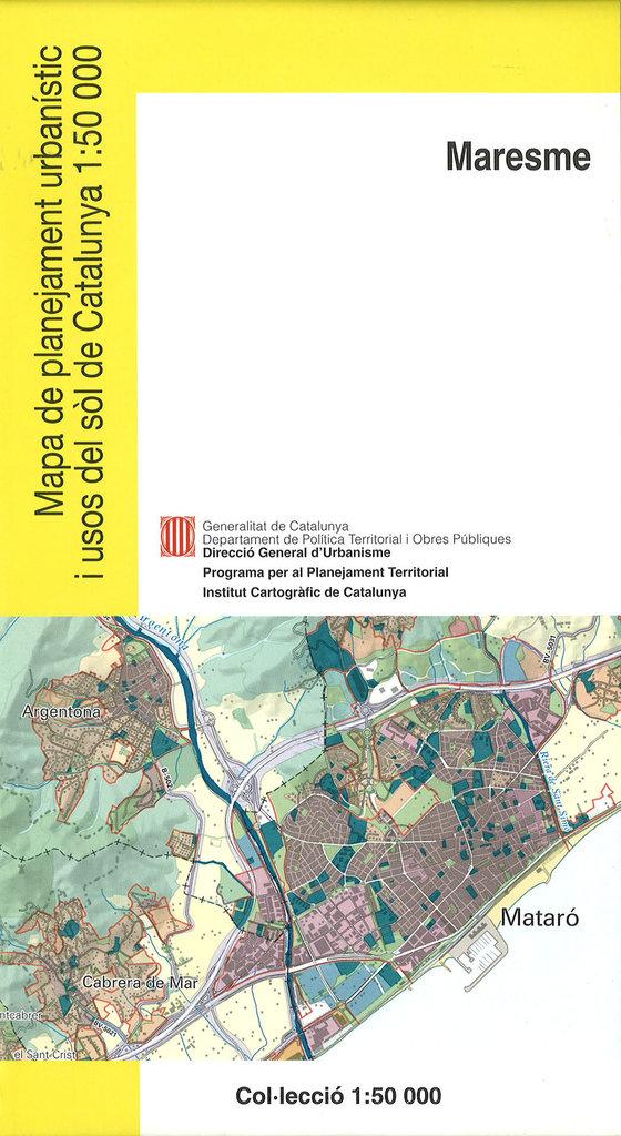 Mapa Urbanístic De Catalunya.Mapa De Planejament Urbanistic I Usos Del Sol De Catalunya 1 50 000 Maresme 21