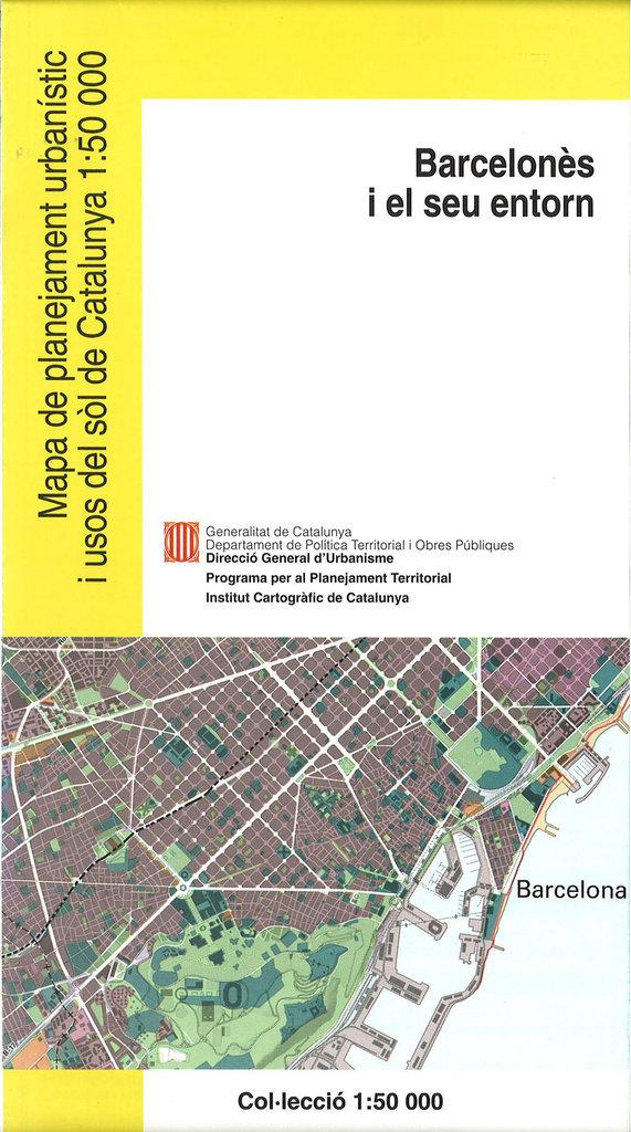 Mapa Urbanistic De Catalunya.Mapa De Planejament Urbanistic I Usos Del Sol De Catalunya 1 50 000 Barcelones 13