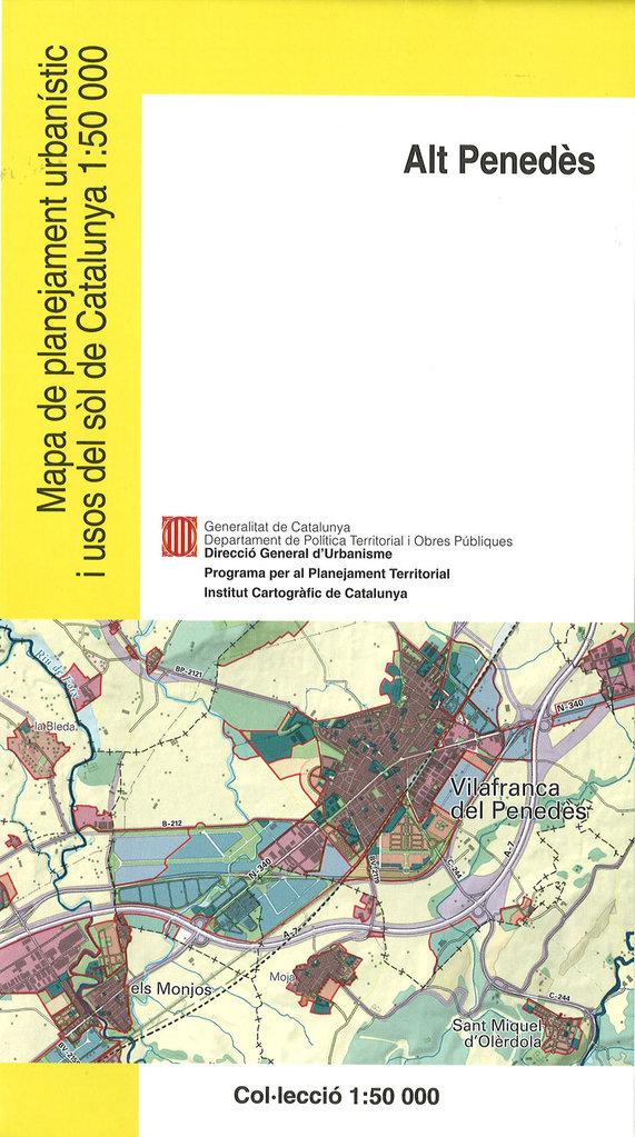Mapa Urbanístic De Catalunya.Mapa De Planejament Urbanistic I Usos Del Sol De Catalunya 1 50 000 Alt Penedes 03