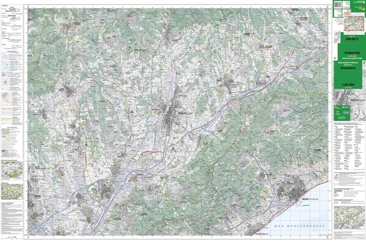 Mapa Topografic De Catalunya.Mapa Topografic De Catalunya 1 25 000 Granollers 13