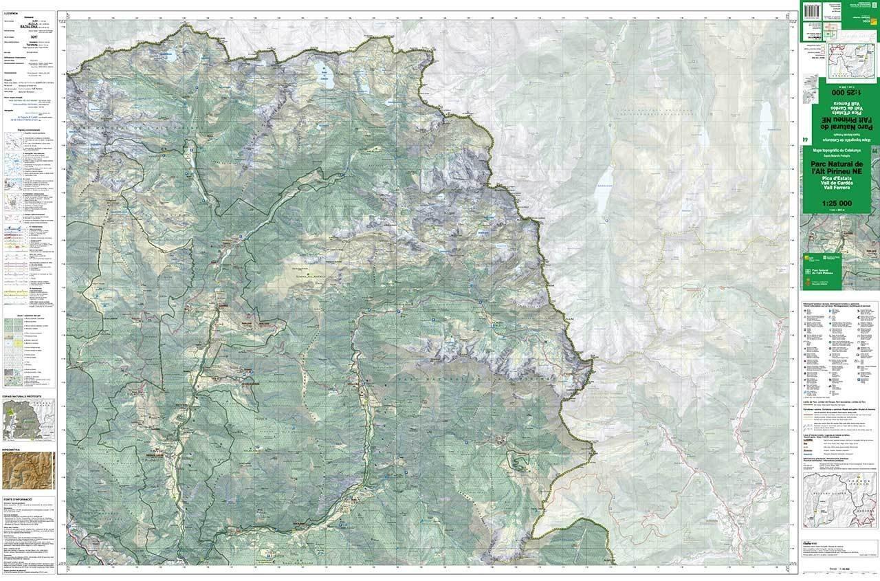 Mapa Topografic De Catalunya.Mapa Topografic De Catalunya 1 25 000 Parc Natural De L Alt Pirineu Ne 44