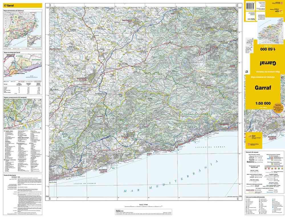 Mapa Urbanistic De Catalunya.Mapa Comarcal De Catalunya 1 50 000 Garraf 17