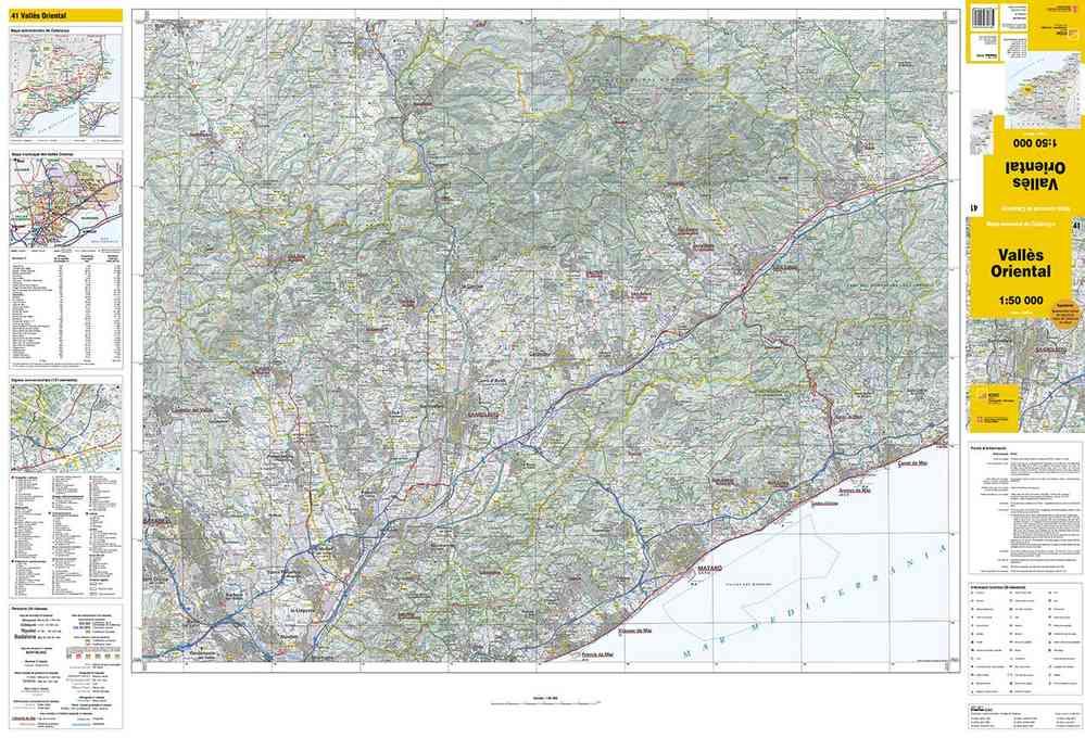Mapa Comarcal De Catalunya 1 50 000 Valles Oriental 41 Tienda