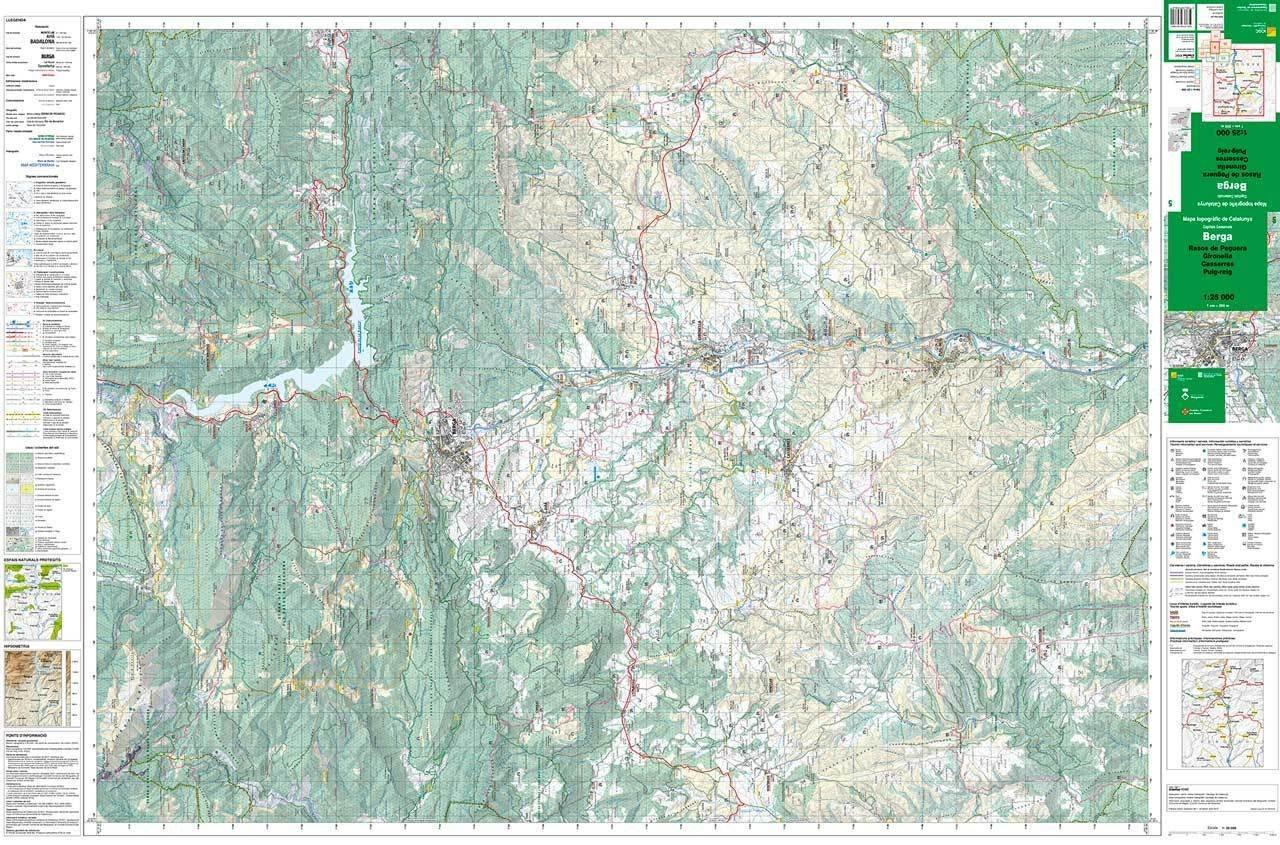 Mapa Topografic De Catalunya.Mapa Topografic De Catalunya 1 25 000 Berga 05