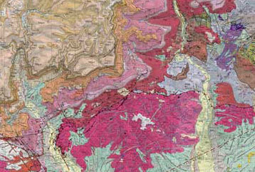 Portion of geologic map